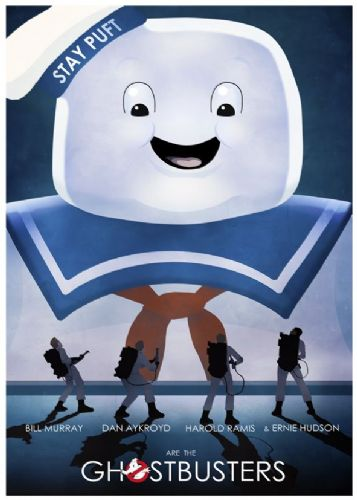 1980's Movie - GHOSTBUSTERS - STAY PUFT canvas print - self adhesive poster - photo print